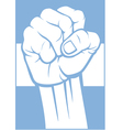 Argentina fist and flag vector image vector image