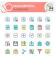 basic and universal iconsai vector image