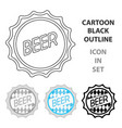 bottle cap icon in cartoon style isolated on white vector image vector image