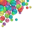 Bubbles isolated on white vector image vector image