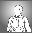 businessman holding cigarette on his right hand vector image vector image