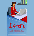 businesswoman in private office flat vector image vector image