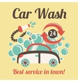 Car wash poster vector image vector image