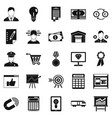 coffers icons set simple style vector image vector image