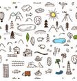 cute kids map pattern vector image