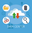 data center technology icons vector image vector image