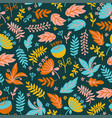 dino fabric floral grunge prehistoric seamless pat vector image vector image