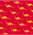 dinosaur brachiosaurus silhouette pattern seamless vector image