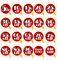 Discont stickers set vector image vector image
