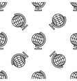 earth globe line icon seamless pattern vector image vector image