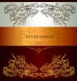 elegant invitation card for menu or wedding vector image vector image