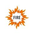 fire logo vector image vector image