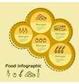 Food vegetable color infographic Doodle