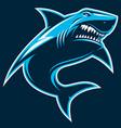 great white ferocious shark vector image