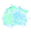 green and blue watercolor stain isolated on white vector image