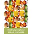 grilled vegetables vegan kebab healthy vector image vector image