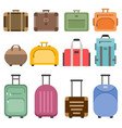 handbags and suitcases pictures set vector image