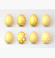 happy easter color easter eggs on transparent vector image vector image