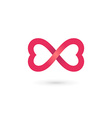 heart infinity loop butterfly logo icon design vector image vector image