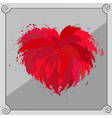 Heart-shaped red object vector image vector image
