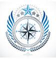 heraldic coat of arms decorative emblem vector image vector image
