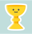 holy grail icon easter and spring flat sticker vector image vector image