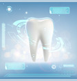 human tooth whitening and treatment vector image