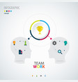 infographic teamwork business concept vector image