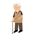 isolated old man grandparent vector image vector image