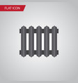 isolated radiator flat icon heater element vector image