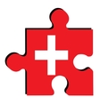 Isolated Swiss flag vector image vector image