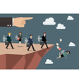 Mechanical business men and women walk straight vector image vector image
