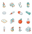 Medicine and health care isometric 3d icons vector image vector image