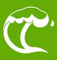 ocean or sea wave icon green vector image vector image