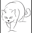 outline cat vector image vector image