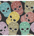 pattern scull vector image vector image