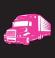 pink big truck and symbol women vector image