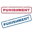 Punishment Rubber Stamps vector image vector image