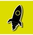 rocket launch design vector image vector image
