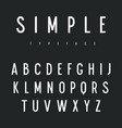 sans serif font 001 vector image