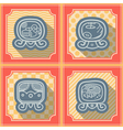 Seamless background with Maya calendar named days vector image vector image