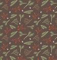 Seamless botanical winter wallpaper vector image vector image