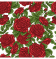 seamless floral pattern with white and red roses vector image vector image