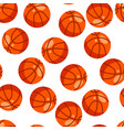 seamless pattern with red basketball balls in flat vector image vector image