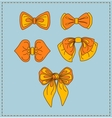 Set of bow ties vector image