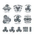 set of hand spinner logo emblems and icons vector image vector image