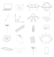 Set with Business Contour Icons vector image vector image