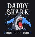 shark t shirt 005 vector image vector image