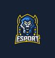 skull anubis esport gaming mascot logo template vector image vector image