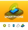 Smartphone icon in different style vector image vector image